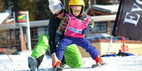 Kids ski lessons in La Rosière with Esprit Ski.