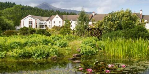 Stunning setting of Auchrannie Resort on Isle of Arran.