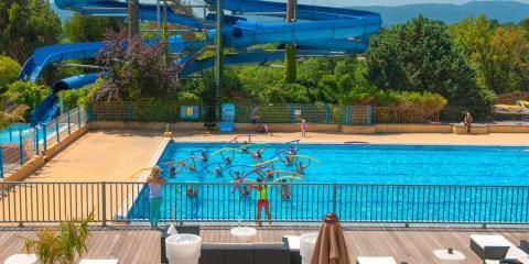 Pool activities at Domaine des Naiades