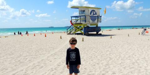 Zac on South Beach, Miami.