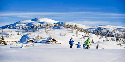 Skiing in the Dolomites of northern Italy