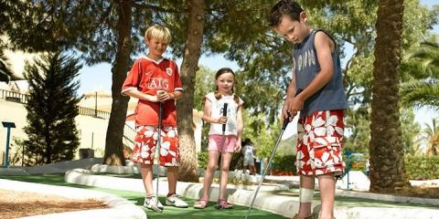 Golf practice at La Manga