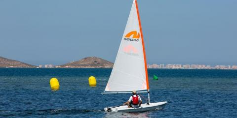 Dinghy sailing at Neilson's Mar Menor Beachclub.