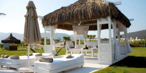A private gazebo – the perfect place to relax at Hilton Dalaman Resort and Spa.