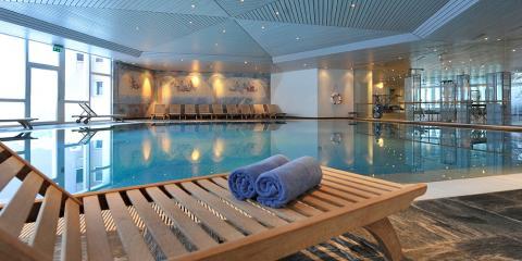 Pool at Club Med Saint Moritz Roi Soleil.