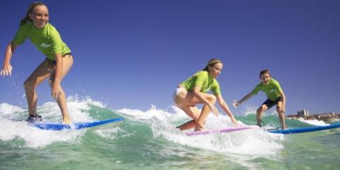 Children surfing at Bondi Beach, Sydney