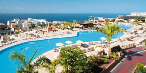 The main pool at the Holiday Village Tenerife.