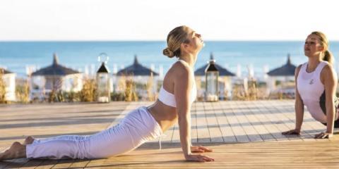 Yoga sessions at TUI SENSATORI Resort Tenerife.