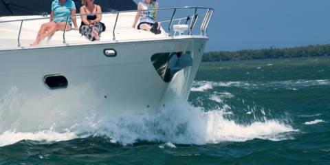 Family on a yachting holiday