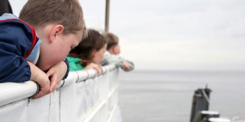 Children usually love ferry travel.
