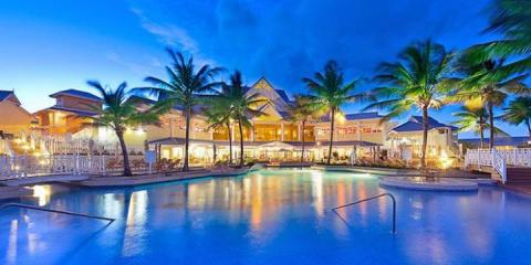 Evening view of the pool at Magdalena Grand Beach Golf Resort.