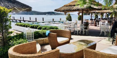 Beach bar at Phokaia Beach Resort, Turkey.