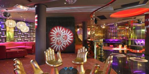 Trendy bar at Paradisus Palma Real, Dominican Republic.