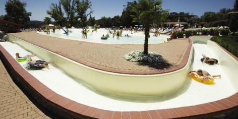 Norcenni Girasole Club Campsite lazy river.