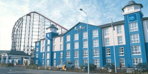The Big Blue Hotel couldn't be handier for the rides of Blackpool Pleasure Beach