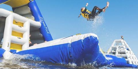 Aqua Park fun at Retallack Resort and Spa.