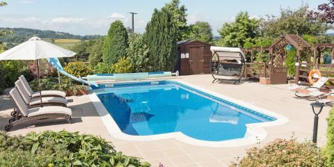 Holiday cottages with pools.