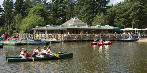 The watersports lake at Center Parcs Sherwood Forest.