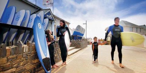 Surfing at Ruda Holiday Park.