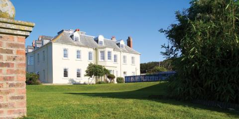 Moonfleet Manor above the famous Chesil Beach.
