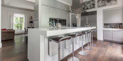 Stylish kitchen at Alwyne Place, London.