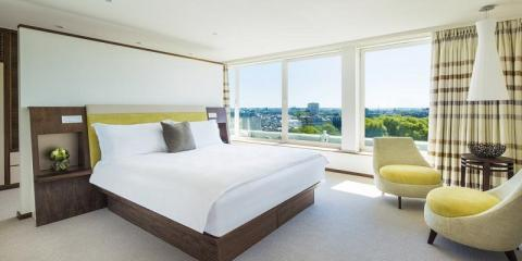 Room with a view at COMO Metropolitan London.