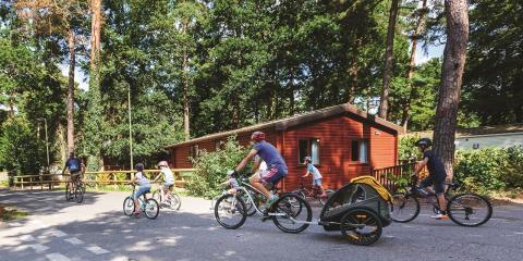 Cycling at Sandy Balls Holiday Village.