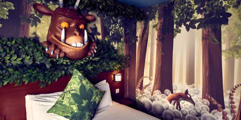 Gruffalo themed family rooms at Chessington Safari Hotel.