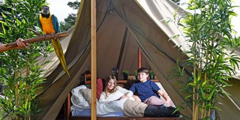 A tent at Explorer Glamping.
