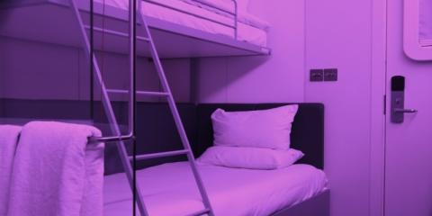 Bedroom at Yotel Gatwick Airport