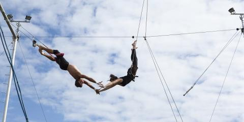 Flying trapeze school at Pierre & Vacances Holiday Village Port Bourgenay.