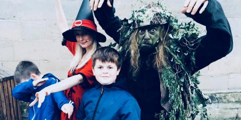 Spooky fun at Warwick Castle.
