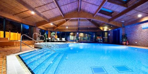 Indoor pool area at Lea Marston Hotel.